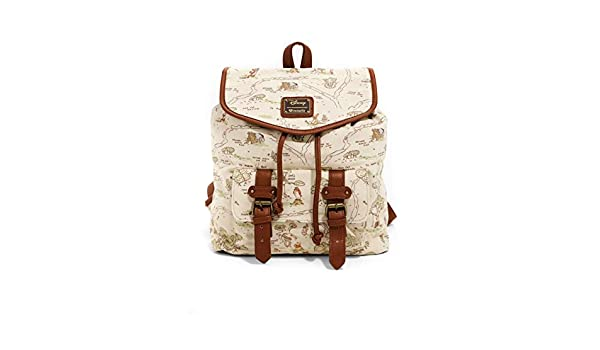 Loungefly Disney Winnie The Pooh Hundred Acre Wood Map Rucksack Backpack Bag Set