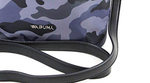 hochwertigem grey Nylon Waipuna Schlüsselanhänger aus Beuteltasche mit grau von camouflage qZFwvvtp