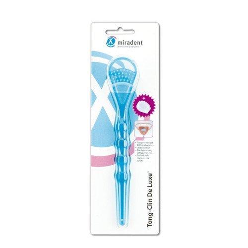 Miradent Tong-Clin De Luxe Zungenreiniger blau, 1 St
