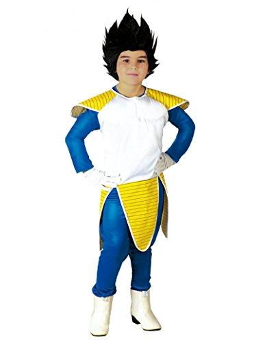 Fiestas Guirca Dragon_Ball_Z Kostüm Vegeta Super Sayan Spaziale, Farbe Weiß, Gelb, 10/12 Jahre (140/152) 82652
