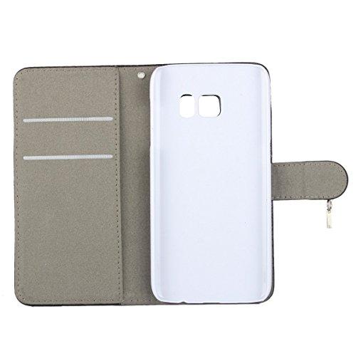 MOONCASE iPhone SE Case,Bling Star Coque en Cuir Portefeuille Housse de Protection Étui à rabat Case pour Apple iPhone 5 / 5S Noir Blanc