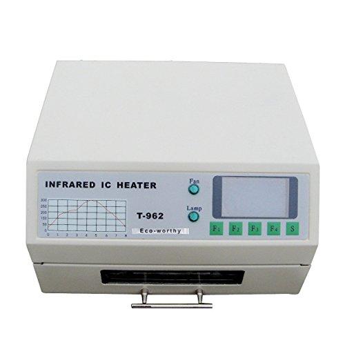 DCHOUSE T962 220V Infrarot Löt-BGA IC Heizer Reflow Ofen Schubladen 180 × 235MM 800 Watt