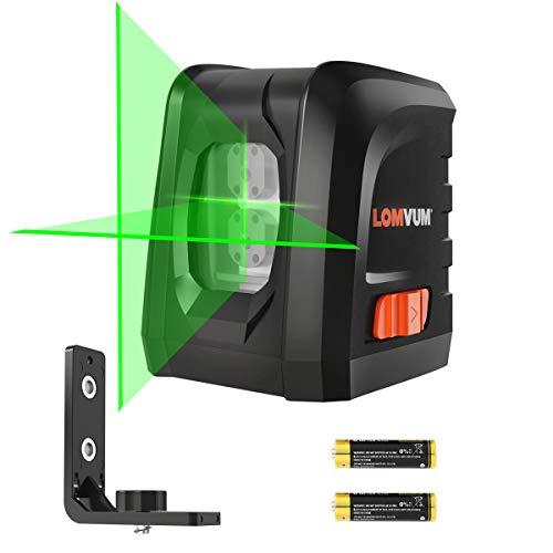 Livella laser, 30M Laser a Croce Autolivellante Misuratore a Infrarossi Orizzontale e Verticale, Livello Laser Autolivellante, 360 Gradi Rotante, IP54(LL-DR2-G2)