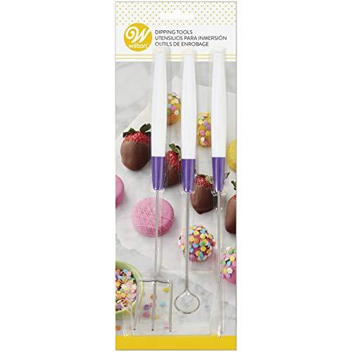Wilton Eintunk-Werkzeug-Set für Candy Melts Schmelzdrops, 3-Teilig Dipping-fork Set