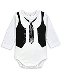 MIOIM® Ropa de Los Mamelucos del Bebé de La Primavera Del Otoño de La Manga del Caballero del Bebé