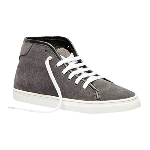TEDISH Chaussures Femme Confortable Lacets Plat de Marche Cuir Outdoor Loisirs Dames Baskets Mode-TD005 Esme Smoked Pearl