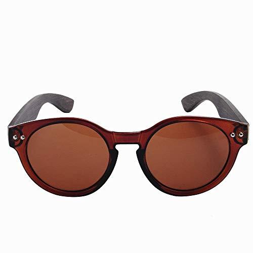 MXHSX Polarized UV400 Schutzgläser Handmade Bamboo Wood Sonnenbrille Circular Sonnenbrille Universal Sonnenbrille für Mann und Frau DREI Farben Optional Persönlichkeit Brille,Tee + Tee + Drahtziehen