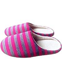 Invierno Cálido Suave Felpa Interior Zapatillas de Piso para el hogar Mujeres/Hombres Zapatos de