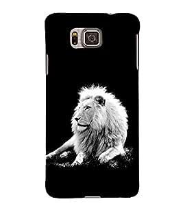 PrintVisa King Of Animals 3D Hard Polycarbonate Designer Back Case Cover for Samsung Galaxy Alpha :: Samsung Galaxy Alpha S801 :: Samsung Galaxy Alpha G850F G850T G850M G850FQ G850Y G850A G850W G8508S :: Samsung Galaxy Alfa