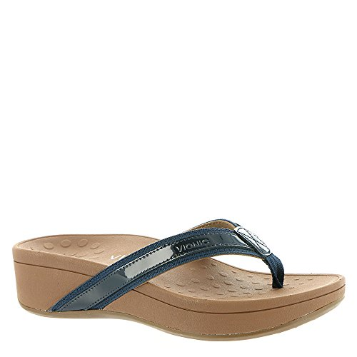 VIONIC Orthaheel Technology Women's High Tide Toe Post Sandal,Navy,US 10 M (Womens Orthaheel Schuhe)