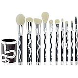 10 Brochas Maquillaje Profesional con cepillo en forma de serpiente Mango Belleza Maquillaje Cosméticos Base Sombra.
