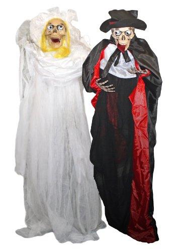 mit Sound und leuchtenden LED Augen Horror Deko Palandi® (Friedhof Halloween Sounds)