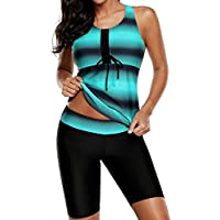 Overdose Farbverlauf Drucken Damen Übergröße Bikinis Tankini Swim Kleid  Badeanzug Beachwear Gepolsterte Bademode Frauen Plus Size 090523fed1