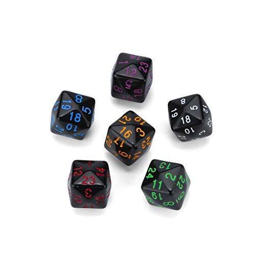 Polyedrische Würfel,Rifuli 7Pcs Party Für Game Dungeons & Dragons Polyhedral D4-6 Mehrseitige...