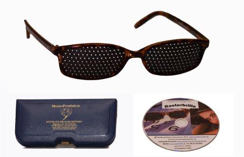 Preisvergleich Produktbild Rasterbrille IMG - der neue Hit - Classic im zeitlosen Design incl. CD zum Augentraining