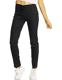 Bestyledberlin Damen Chino, Normal Waist Slim Fit Hose, Basic Stretch Stoffhose j55f