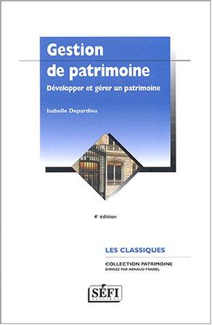 Gestion de patrimoine par I. Depardieu