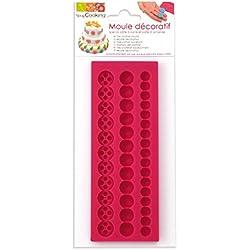 Scrapcooking 3437perlas molde pasta silicona 21,7x 9,5x 0,8cm, color rosa