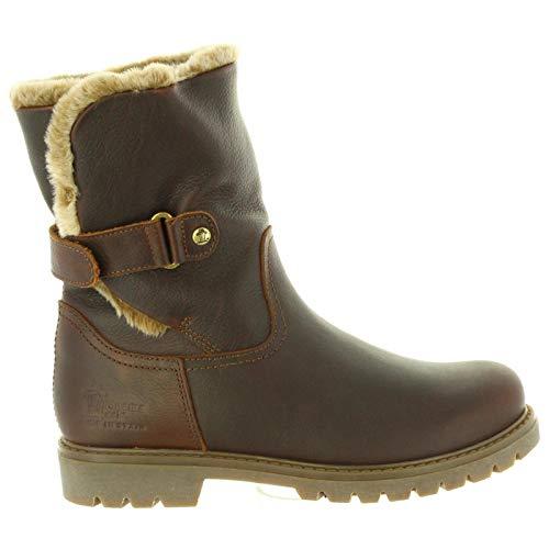 PANAMA JACK Damen Winterstiefel Felia,Frauen Winter-Boots,Fellboots,Fellstiefel,gefüttert,Warm,Wasserabweisend,Kastanienbraun,EU 36