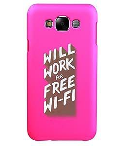 KolorEdge Back Cover For Samsung Galaxy E7 - Pink (5869-Ke15148SamE7Pink3D)