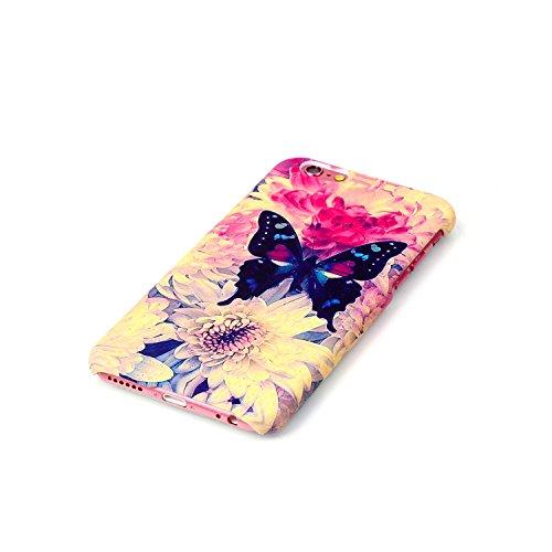 iPhone 6 Hülle,iPhone 6S Case,iPhone 6S Hardcase - Felfy TPU Rahmen Schutzhülle Hart Acryl Zurück Handy Tasche Frischer Fashion Muster Durchsichtige Rückschale und Bling Kristall Diamant Strass Siliko Anchors