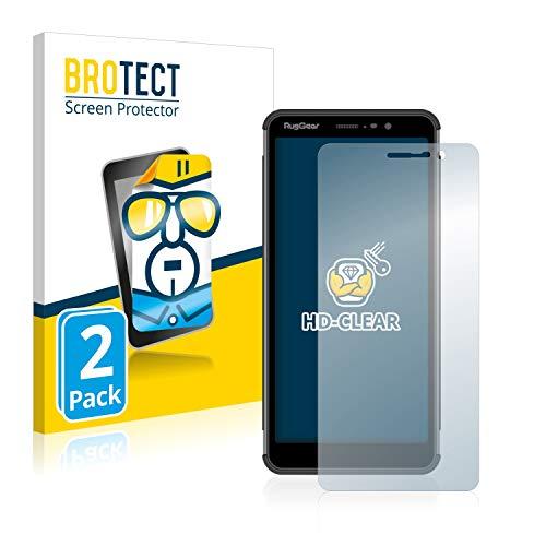 BROTECT Schutzfolie kompatibel mit RugGear RG850 [2er Pack] klare Bildschirmschutz-Folie