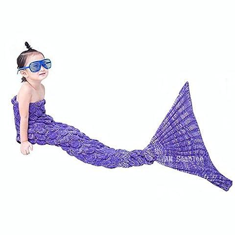 Meerjungfrau Decke für Cosplay, Wrap Decke Fancy Dress Schlafsack, Schlafende Tasche, Klimaanlage Schlafsack, Perfektes Geschenk für Kinder und Jugendliche (3-12