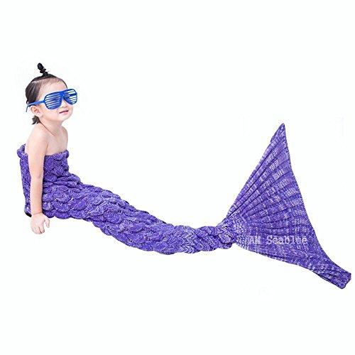 Meerjungfrau Decke für Cosplay, Wrap Decke Fancy Dress Schlafsack, Schlafende Tasche, Klimaanlage Schlafsack, Perfektes Geschenk für Kinder und Jugendliche (3-12 Jahre)