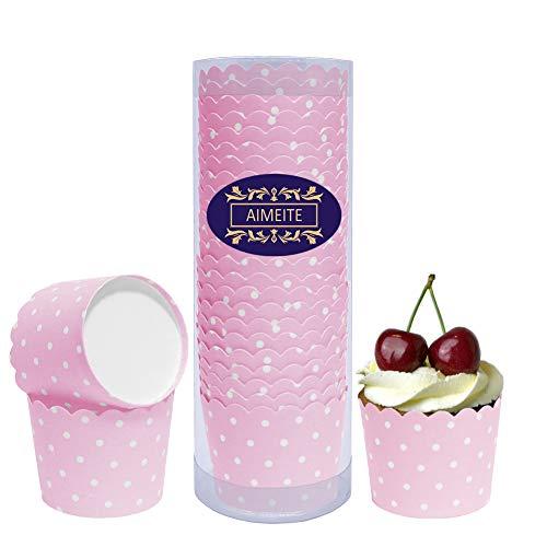 mchen Backförmchen Papier Liners Cupcake Muffin Form Cupcake Wrappers Muffin Becher Papier Backformen Cupcake 24 Stück- Set (Rosa) ()