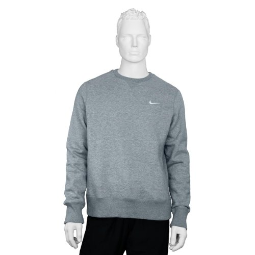 Nike-Felpa Squad, Uomo, Pullover Squad Fleece, grigio, XL
