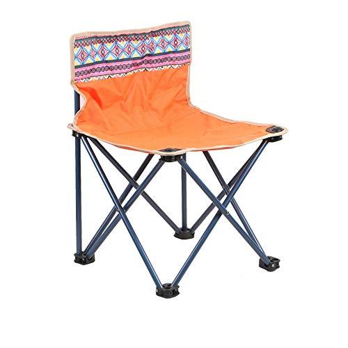 DEI QI Silla Plegable para Acampar al Aire Libre Playa de Playa Silla de Pesca Taburete Taburete de Pintura Sketching Mazar Silla Plegable Taburete (Color : Naranja)