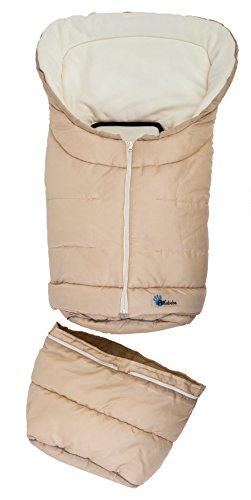 Altabebe AL2211-8 Winterfußsack 2 in 1 für Babyschale und Kinderwagen, beige/whitewash