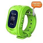 Witmoving Childrens Smartwatch GPS Tracker Kids Wrist Watch Phone Sim Anti Lost SOS Bracelet Parent Control By Smartphone Green