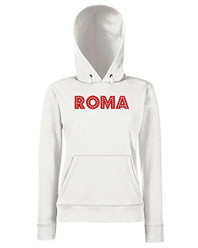 T-Shirtshock - Sweats a capuche Femme OLDENG00223 retro roma red Blanc