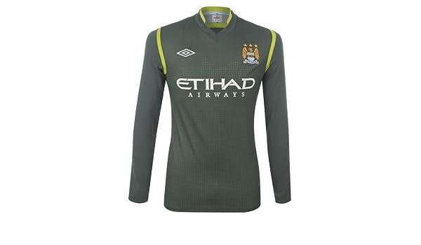 big sale 008c5 686e4 Man City Goalkeeper kit - Large Boys: Amazon.co.uk: Sports ...
