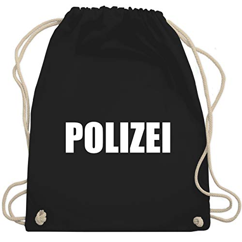 Karneval & Fasching - Polizei Karneval Kostüm - Unisize - Schwarz - WM110 - Turnbeutel & Gym Bag