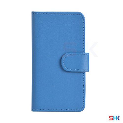 """Apple iPhone 6 / 6S Plus (5.5"""" Inch) Pack 1, 2, 3, 5, 10 Protecteur d'écran & Chiffon SVL2 PAR SHUKAN®, (PACK 5) Portefeuille Bleu Clair"""