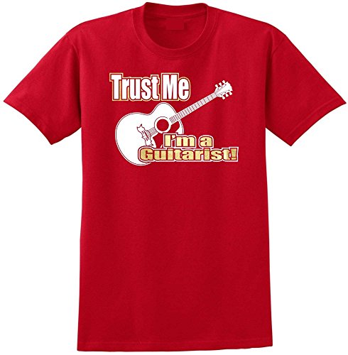 Acoustic Guitar Trust Me - Red Rot T Shirt Größe 87cm 36in Small MusicaliTee - Epiphone Acoustic Electric Gitarre