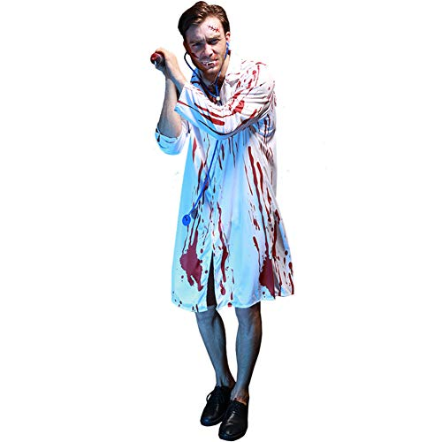 MYLEDI Halloween Herren Doktor Kostüm Cosplay Festival Dress Up (Dressup Herr Halloween-kostüm)