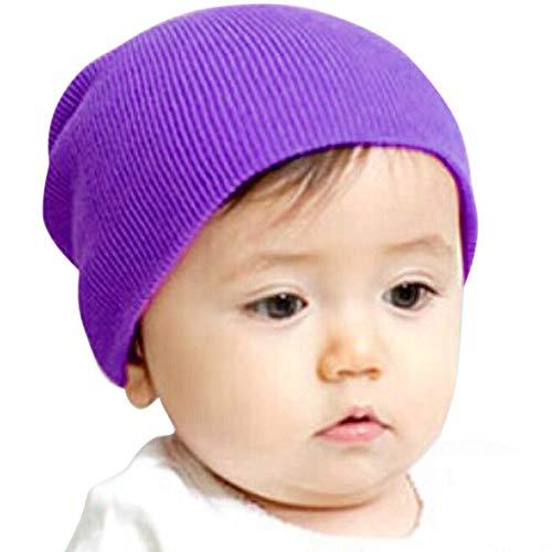 Chapeau Enfant ADESHOP Mode BéBé GarçOn Filles Chapeau Hiver Chaud Enfants  Casquette Doux Confortable Couleur Unie 2a5607f966f