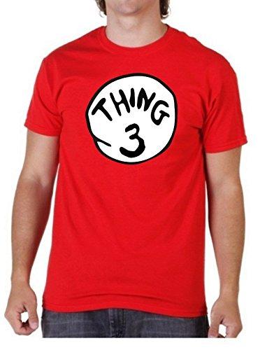 """iertes T-Shirt für Kinder und Erwachsene mit der Aufschrift """"Thing 3"""", in Rot, unisex Medium rot ()"""