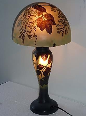 LES GLYCINES LAMPE PATE DE VERRE GALLE GL10-25