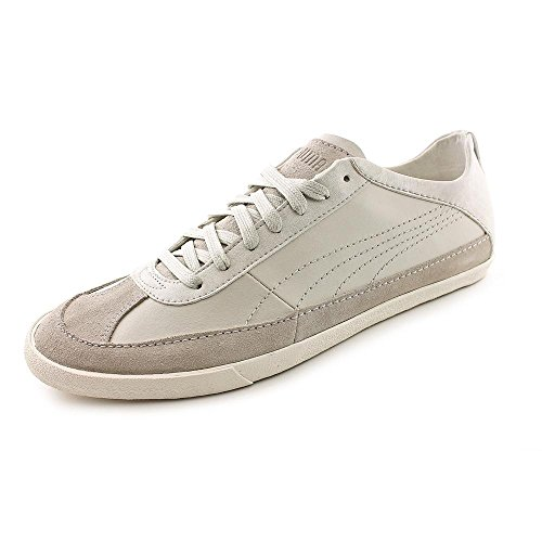 Puma Kollege Hommes Cuir Baskets Silver Birch-Egret White