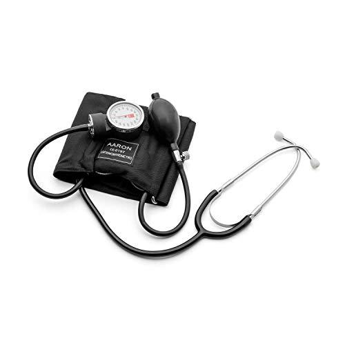 Tensiómetro aneroide con Fonendo AARON® | brazalete ajustable. Kit profesional...