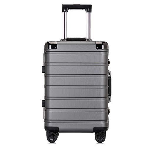 CDZNIU Studenten-Trolley, PC-Hartschalen-Aluminiumrahmen-Reisekoffer, Handgepäck für Handgepäck, leichte, langlebige 4-Spinner-Räder und TSA-Zollschloss (20/24 Zoll)-3-24inches -