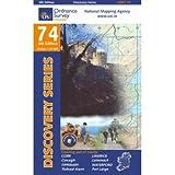 Ordnance Survey Ireland 74, Wanderkarte: Cork, Limerick, Tipperary, Waterford; 1:50.000; OSI