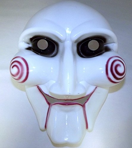 Jig Saw Killer Maske Halloween Karneval Fasching Maske in Weiss