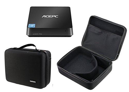 Navitech Schwarzes hartes Wasser-beständiges Mini Desktop PC / Mini PC Tasche / Hülle für die ALIENWARE AW Coral R2