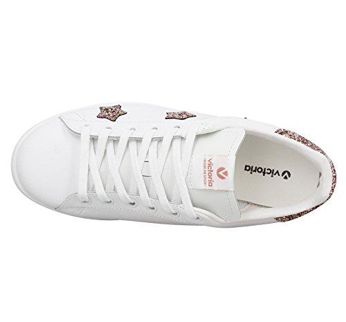 Chaussures Deportivo Estrellas Rosa e17 - Victoria Blanc Rosa