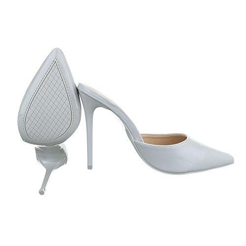 Ital-Design - Scarpe con plateau Donna Grigio chiaro
